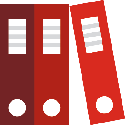 Icon of folder binders representing content in an SEO strategy