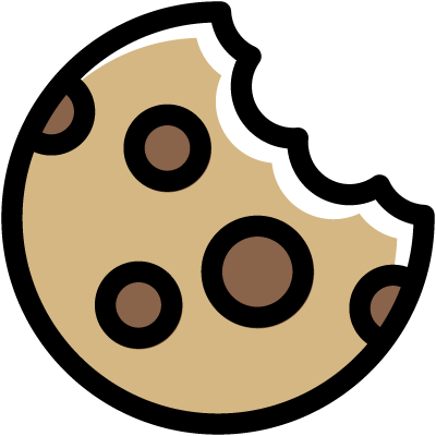 Icon of a cookie representing website cookies
